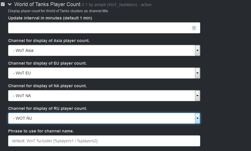 World Of Tanks Player Count | SinusBot Forums