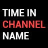 Time in channels' name